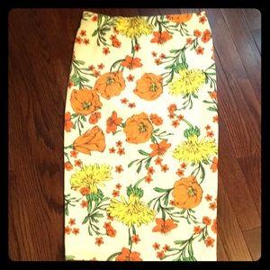 River Island garden print stretchy pencil skirt